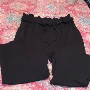 Paper bag dress pants